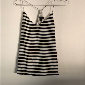 J.Crew silk striped camisole